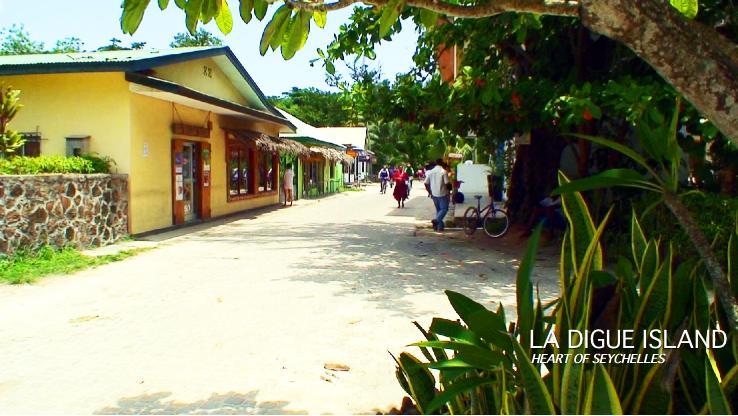 ラディーグ島のメインストリート