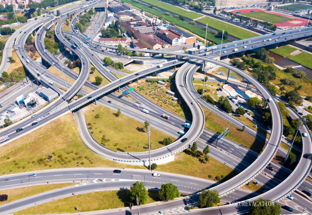 バルセロナの高速道路