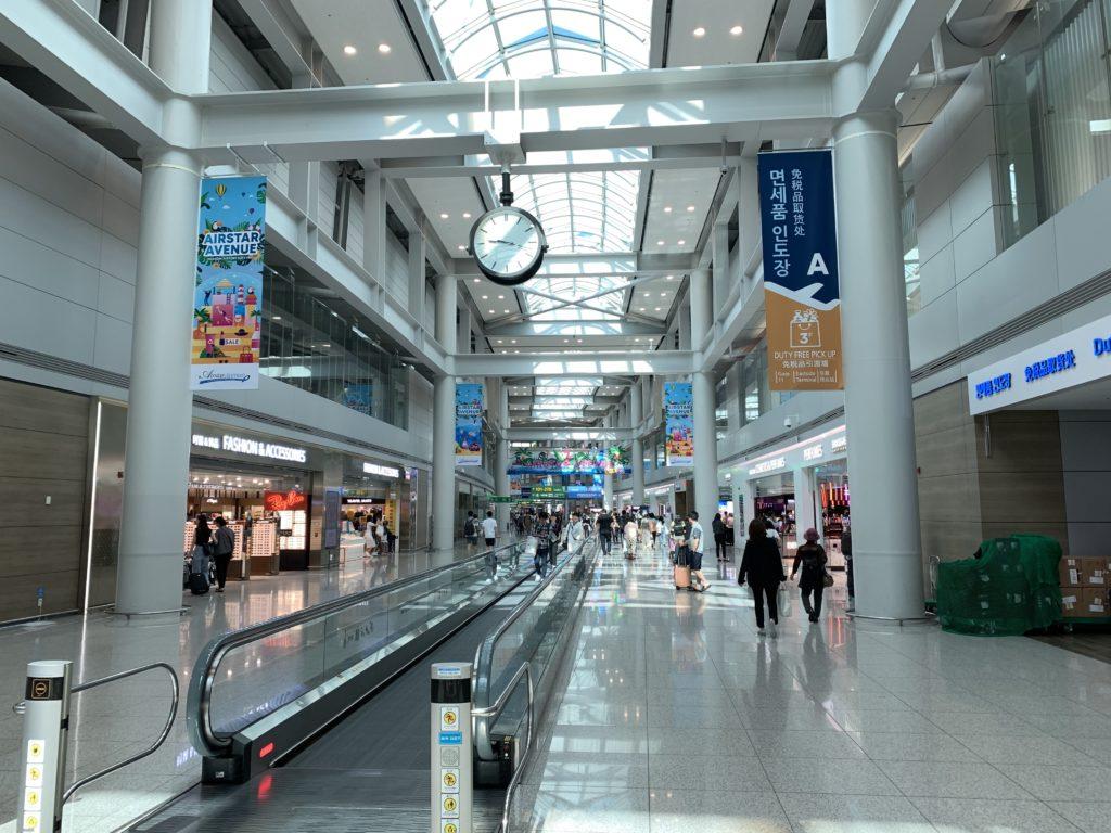 インチョン空港のトランスファーエリア