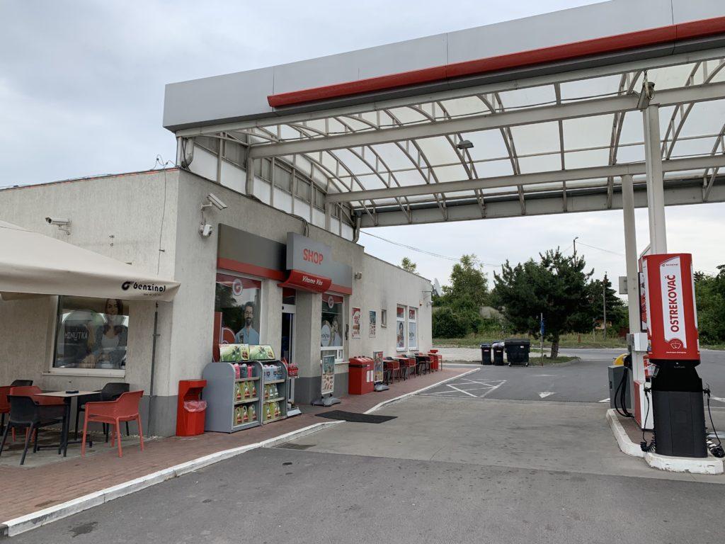 スロヴァキアのガソリンスタンド
