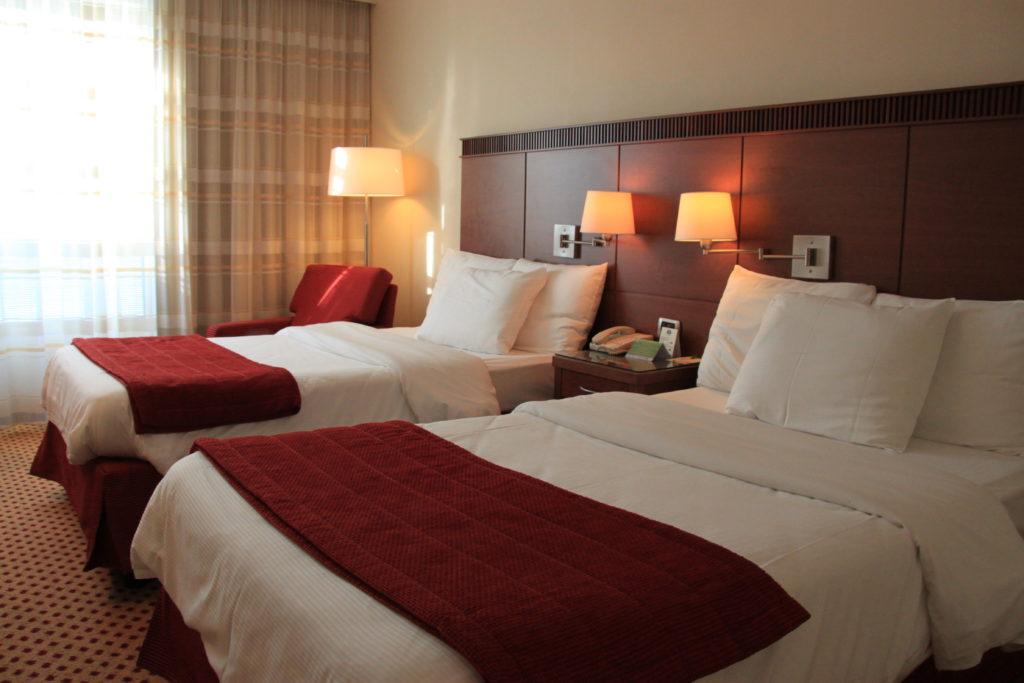 ベニスのホテルのベッドルーム
