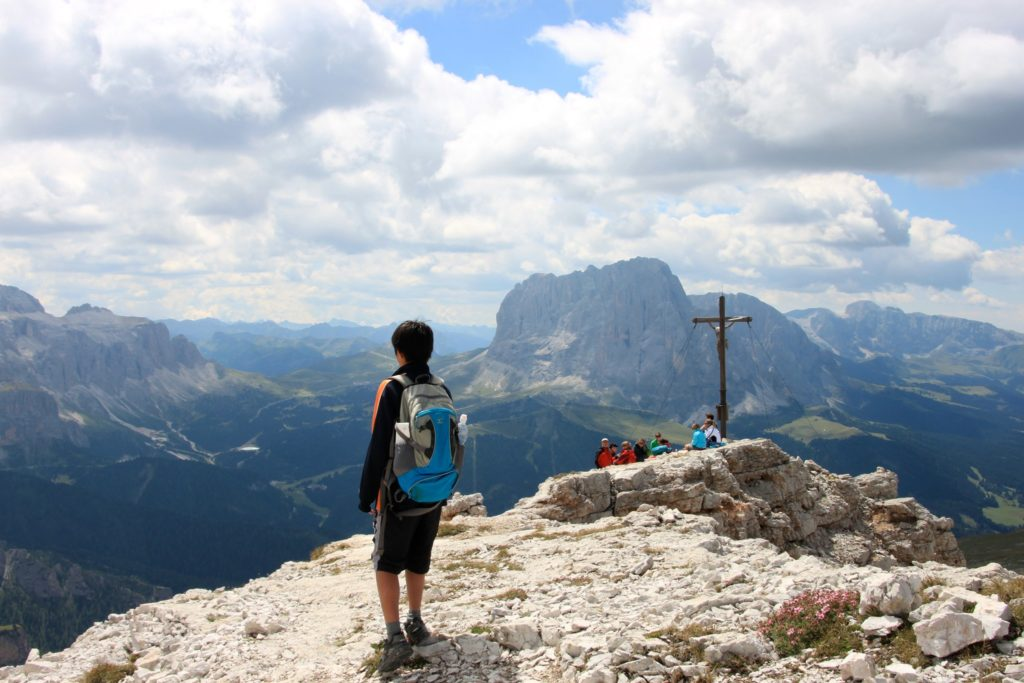 ドロミテの山