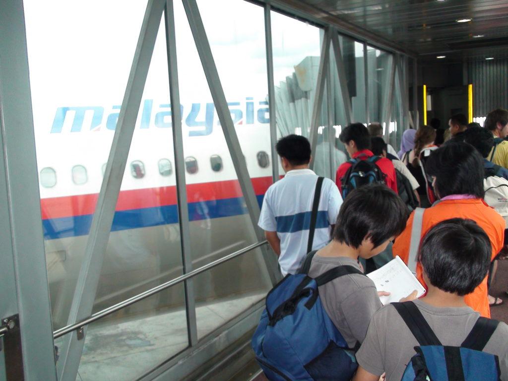 マレーシア航空に搭乗する