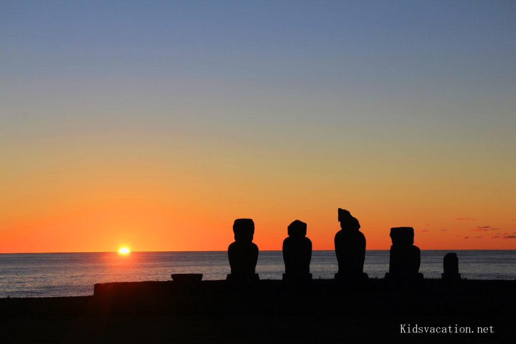 イースター島の夕日スポット