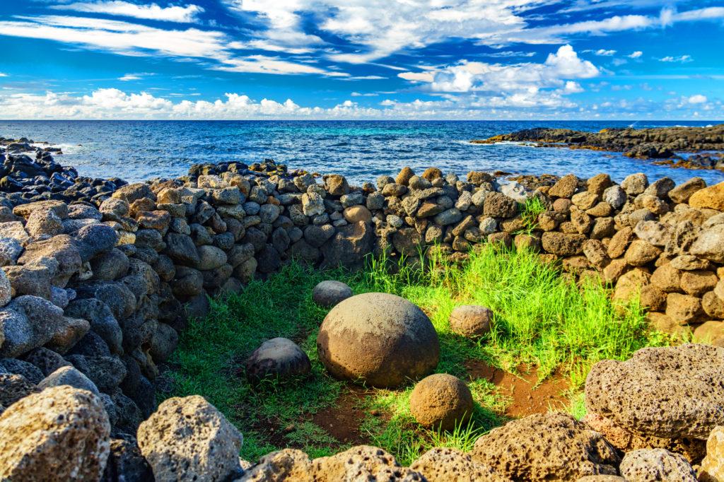 テ・ピト・クラの5つの丸い石