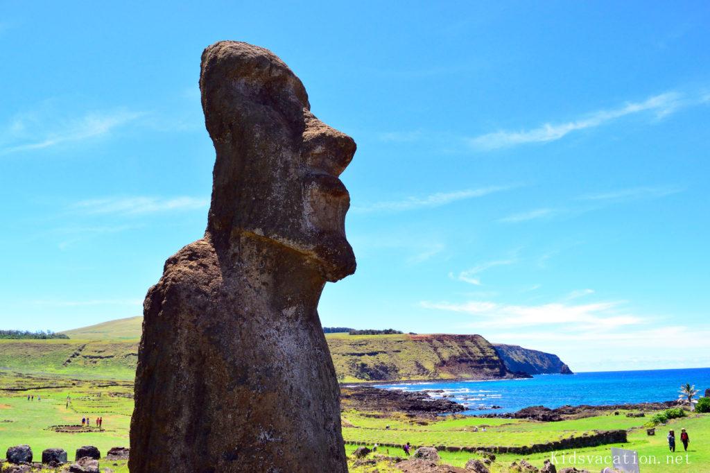 イースター島最大のモアイ遺跡・アフトンガリキ