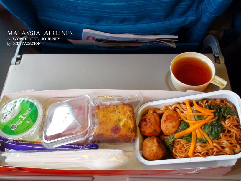 アジア風やきそばの機内食