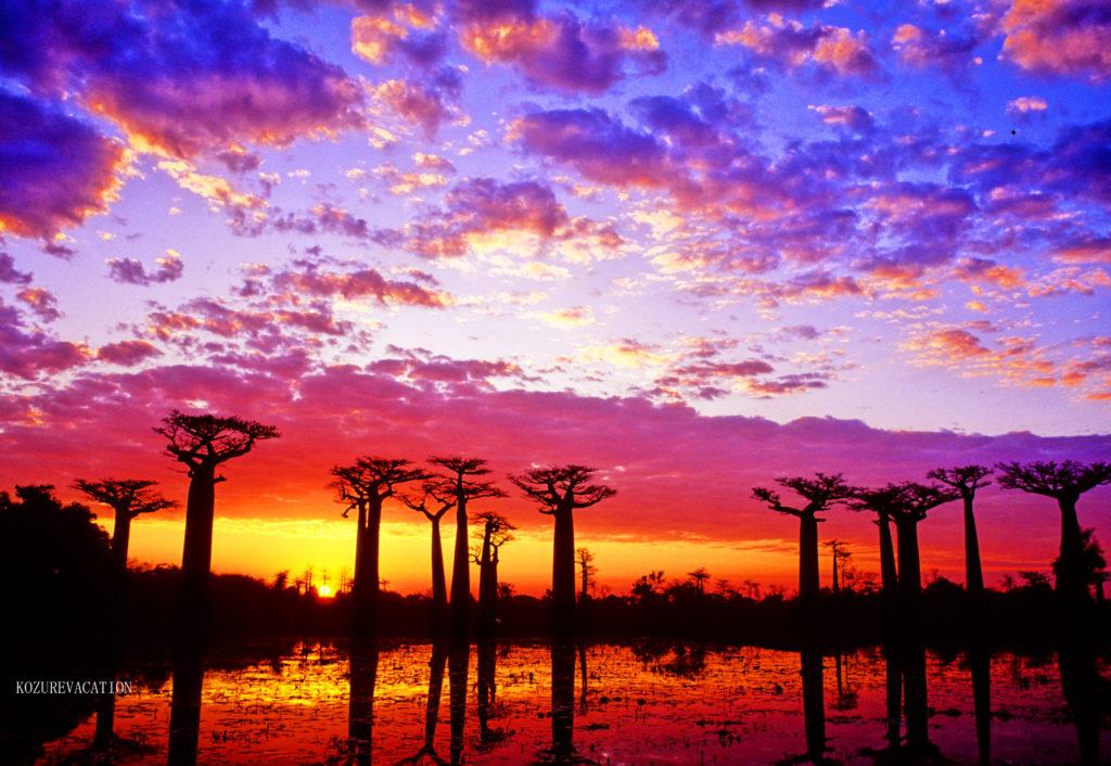 マダガスカルの夕日