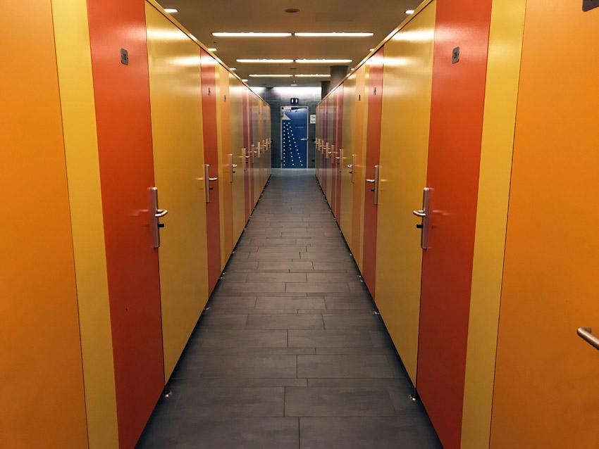 テルメウィーンのロッカールーム