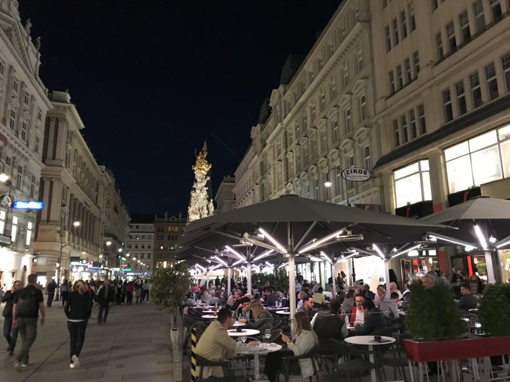 ウィーン歴史地区の歩行者天国グラーベン