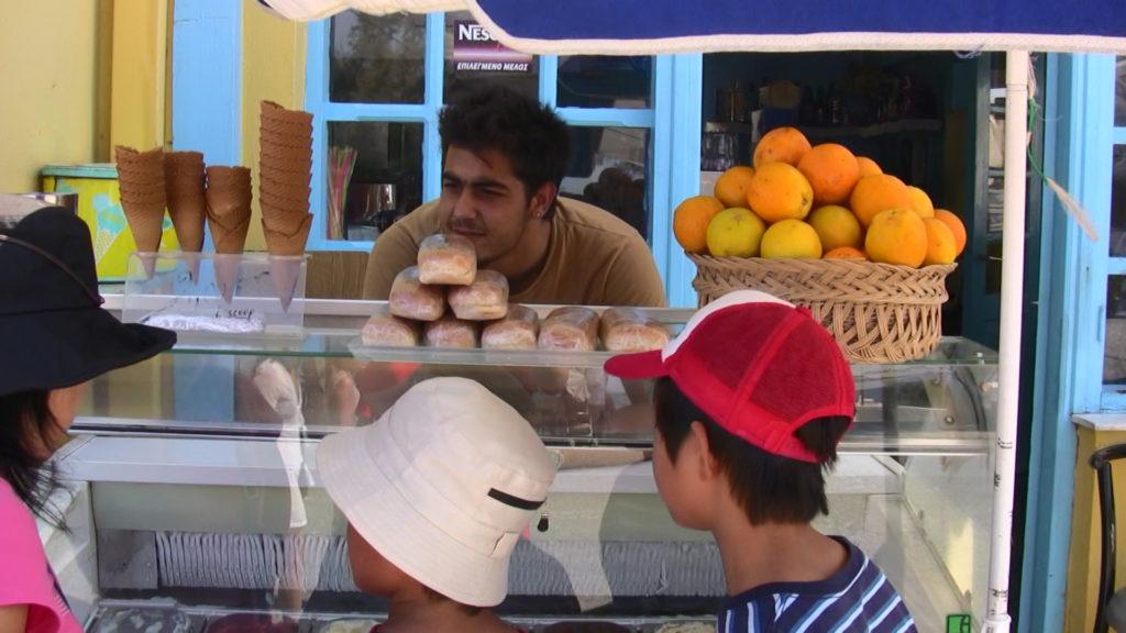 ギリシャのアイスクリームスタンド