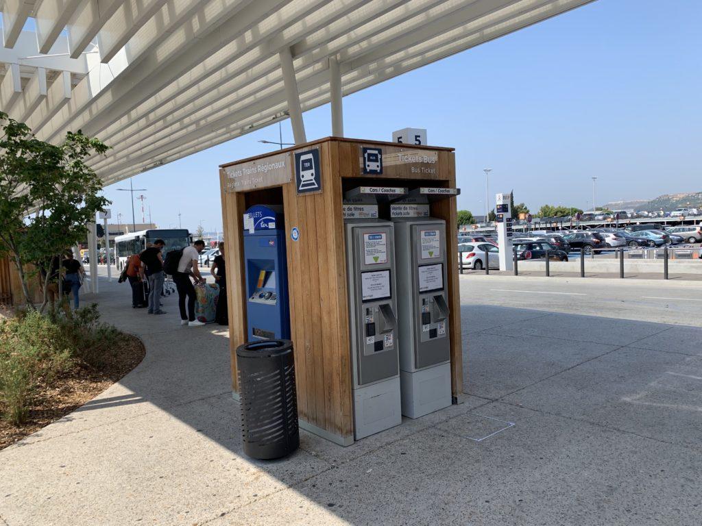 エアポートバスの自動券売機