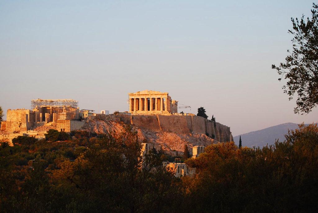 フィロパポスの丘の夕日