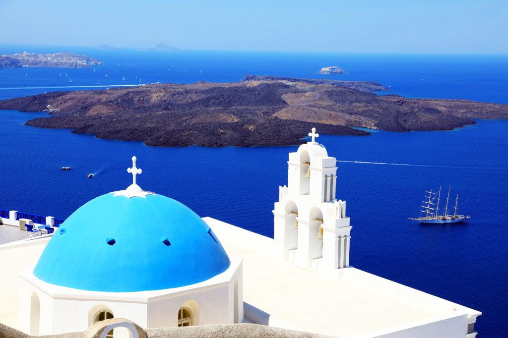 藍頂教会とエーゲ海