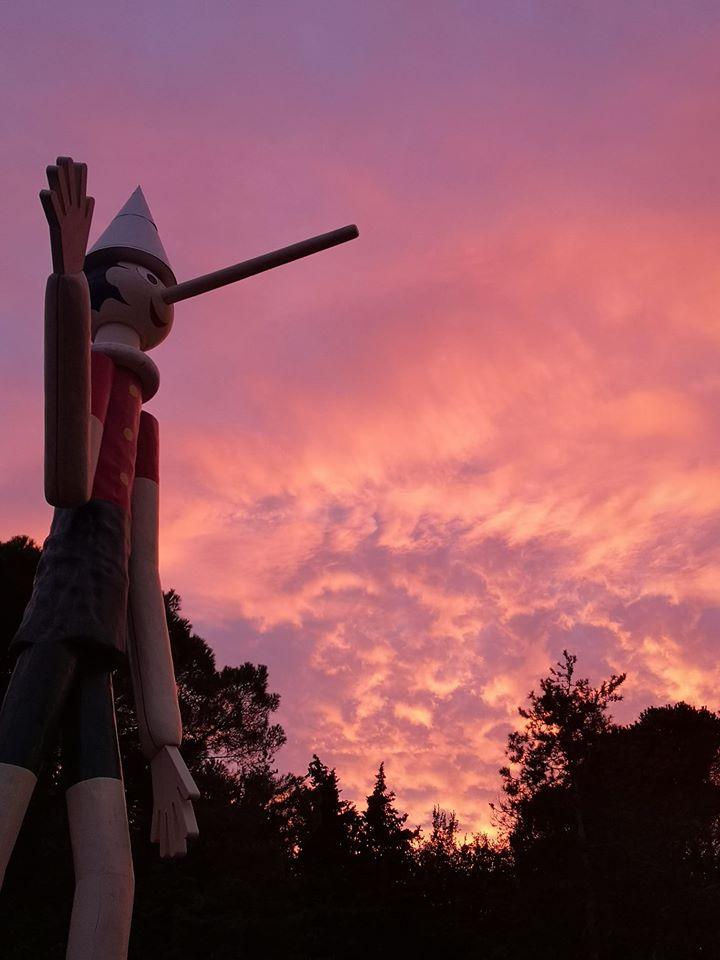 ピノキオ公園にある世界一高いピノキオ像