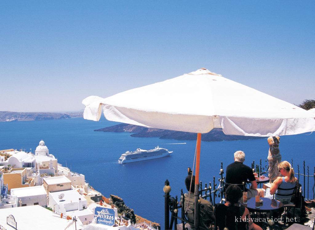 フィラの眺めのいいレストラン