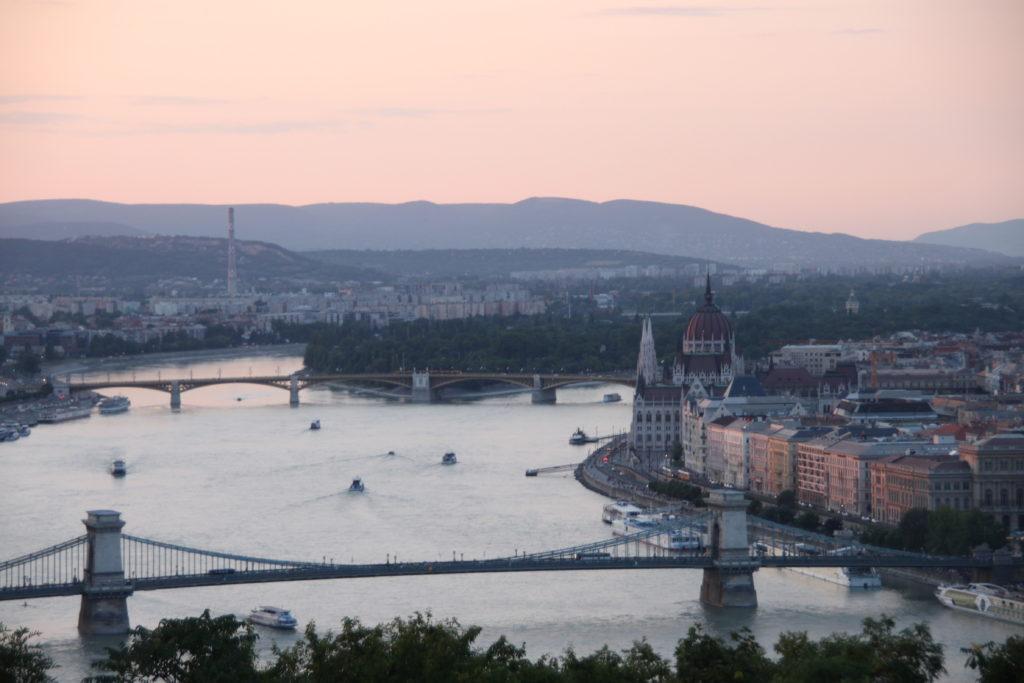 ブダペストの夕景