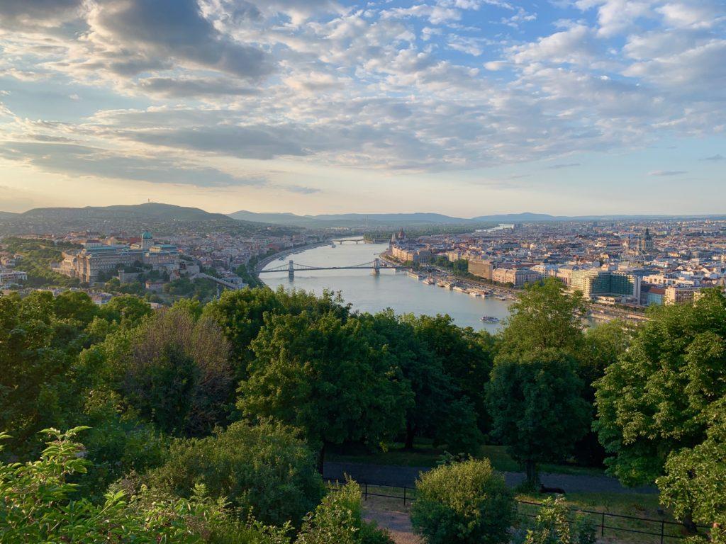 ブダペストの夕焼