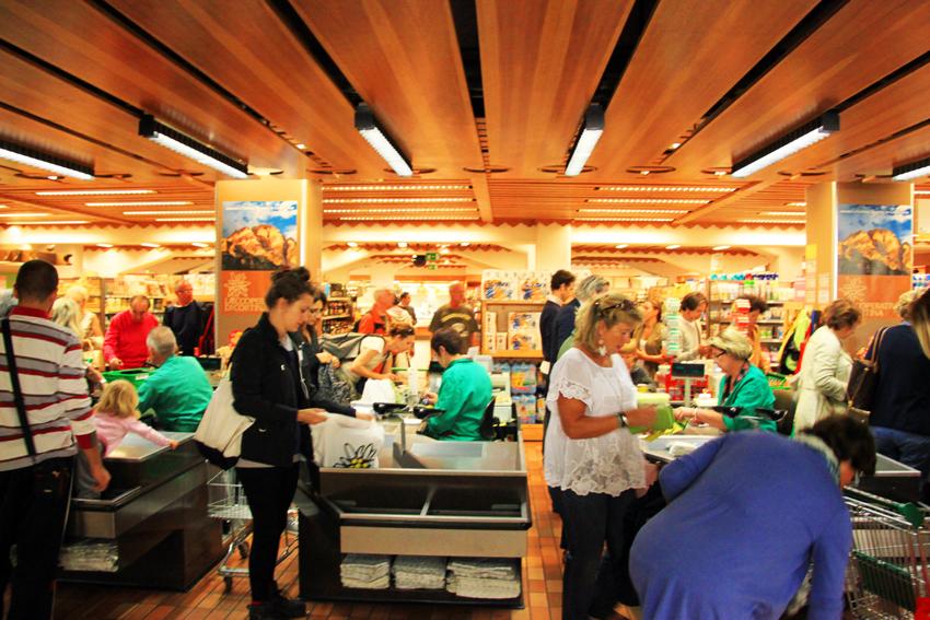 ドロミテ最大のスーパー