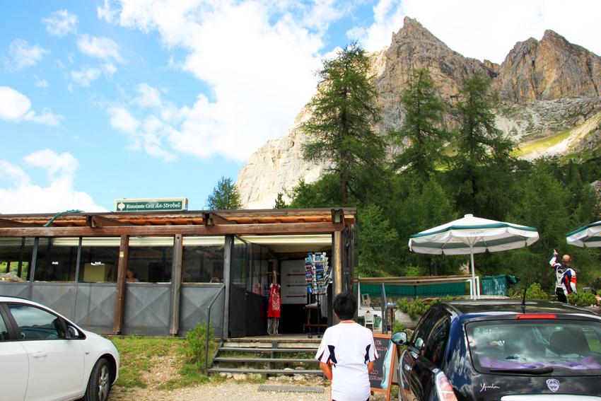リストランテ・グリル・ダ・ストロベル・パオロ・ミッシェルの入り口