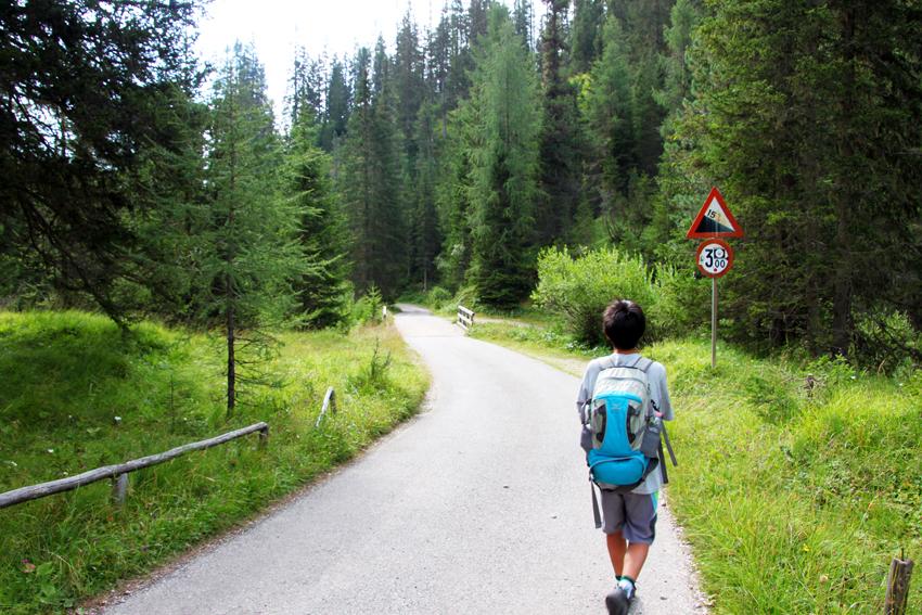 チンクエトッリ登山ルートの始まり