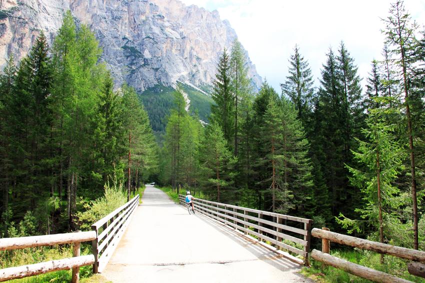 橋を渡る次男とクローダデルポマガノン
