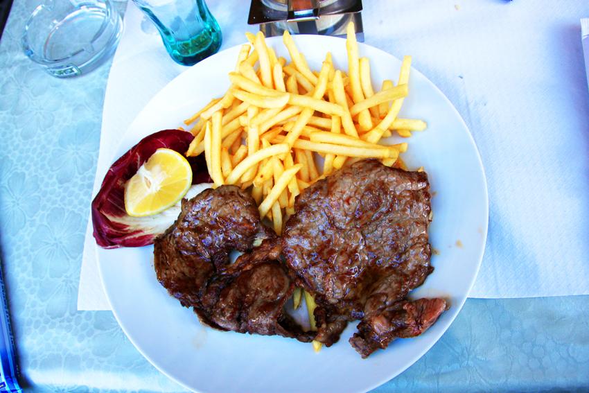 キアナ牛のステーキ