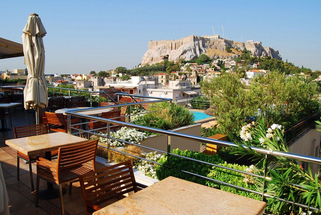 エレクトラパレスホテルの屋上から見るアクロポリス