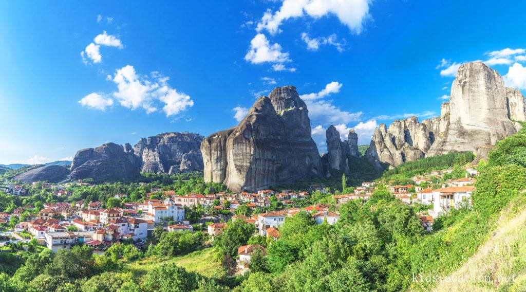 カストラキ村の風景