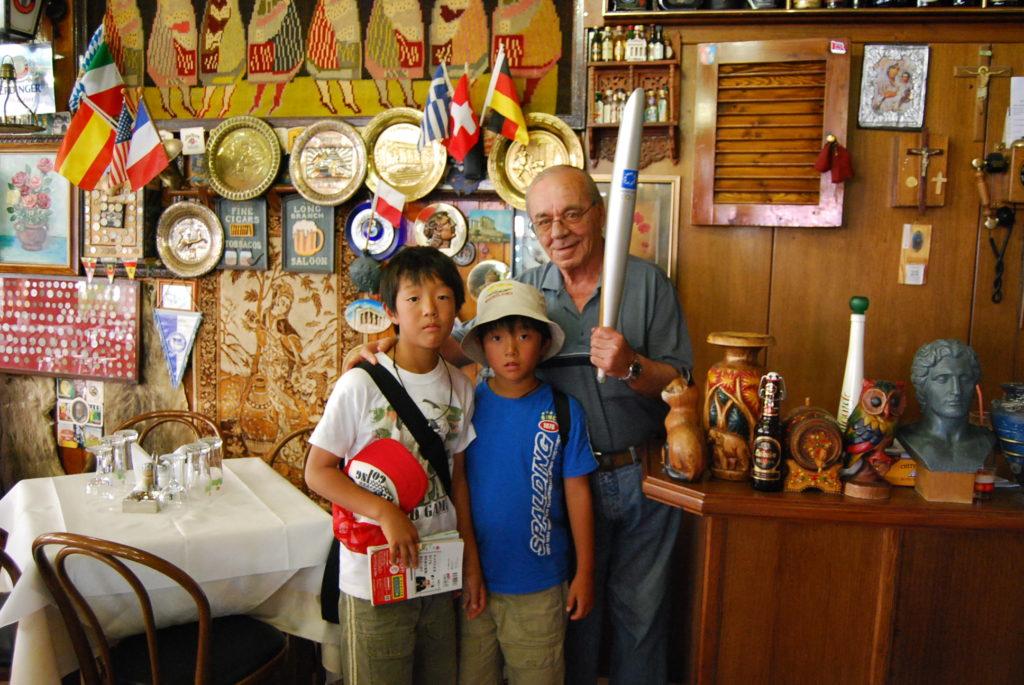 ギリシャオリンピックの時聖火リレーの拠点となったレストランメテオラ
