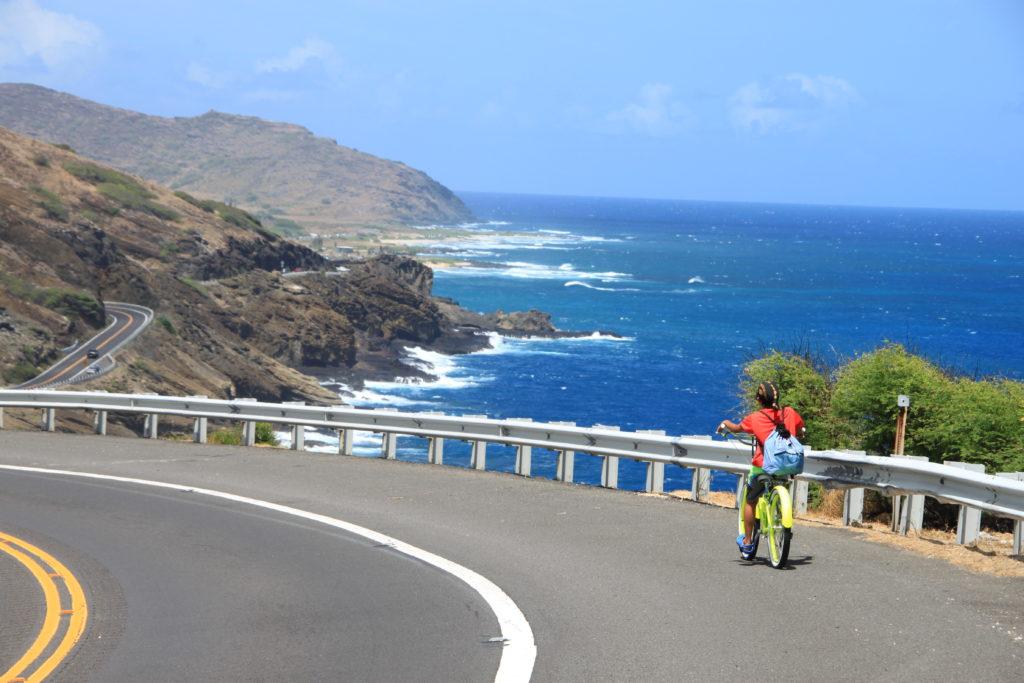 ハワイで子連れサイクリング