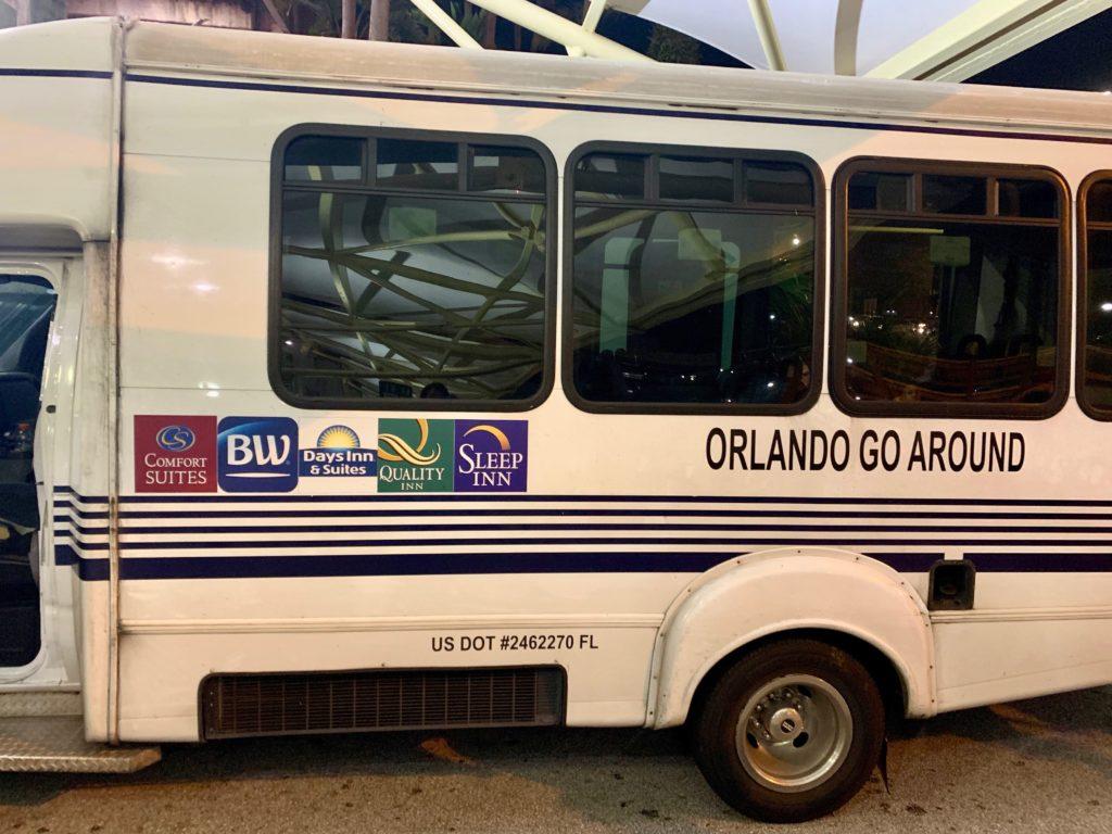 グランドトランスポーテーションに迎えに来たホテルのシャトルバス