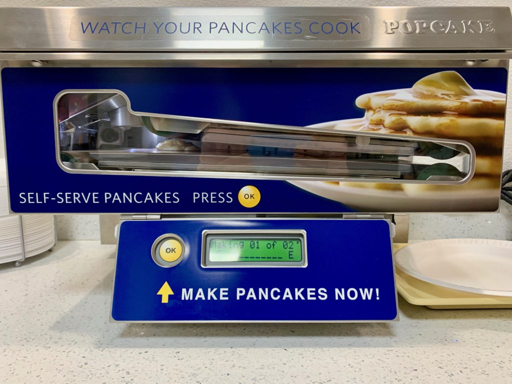 自動パンケーキ焼き機