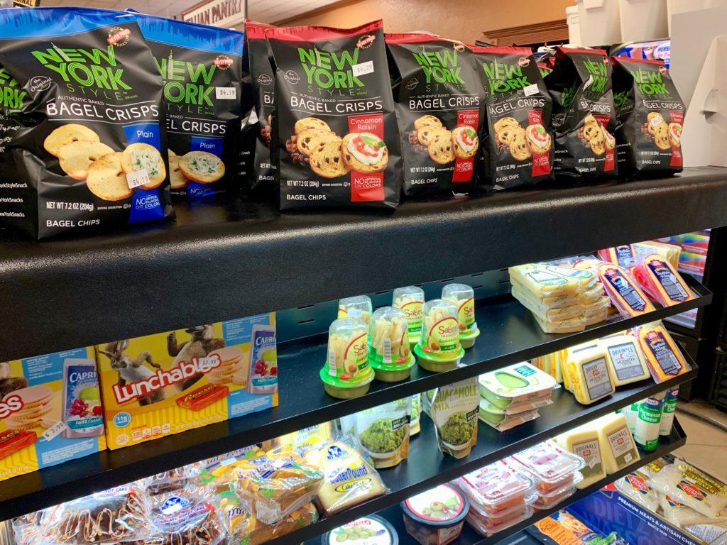 食料品の棚