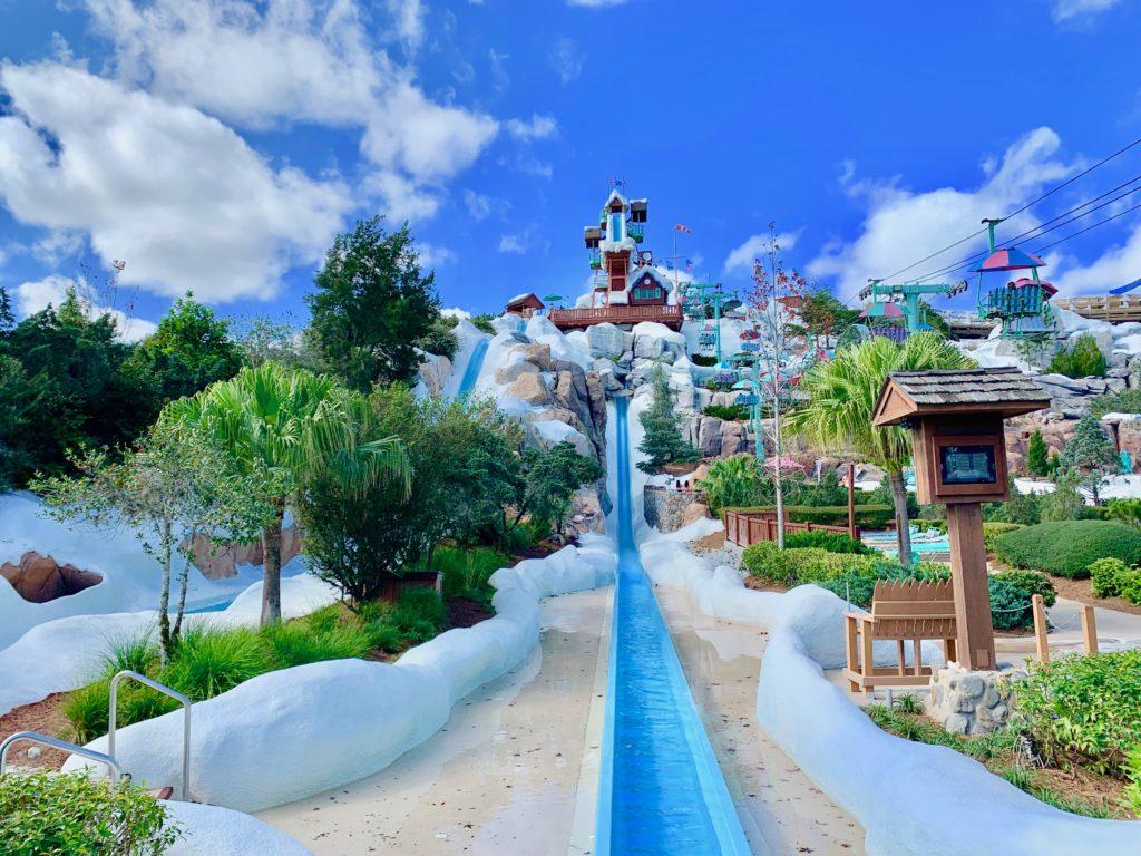 ディズニーブリザードビーチの高速スライダー
