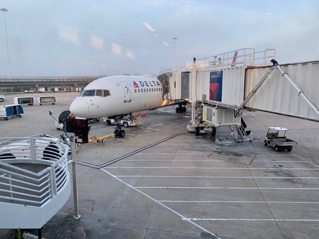 ミネアポリス国際空港に駐機するデルタ航空の機体
