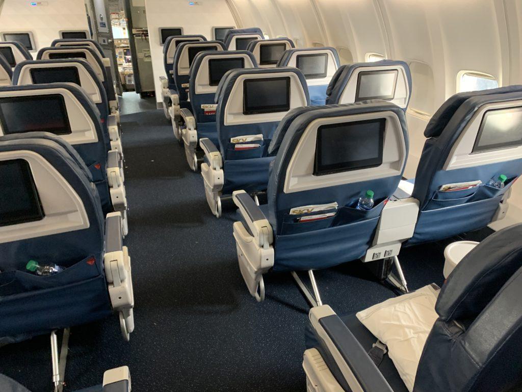 デルタ航空の座席
