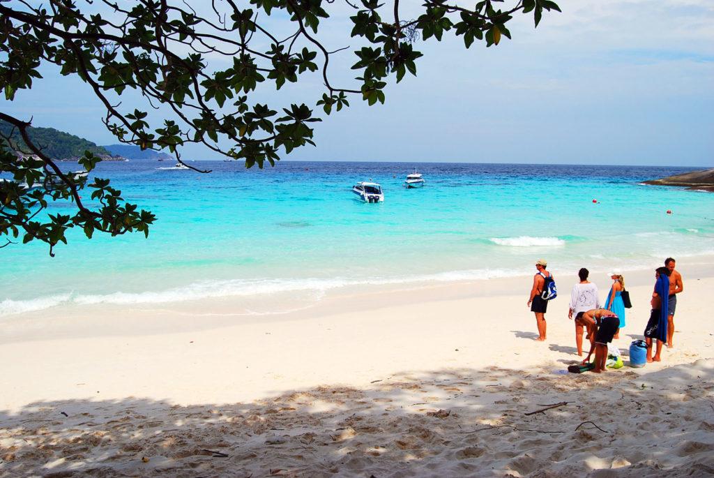 シミラン 諸島のビーチ