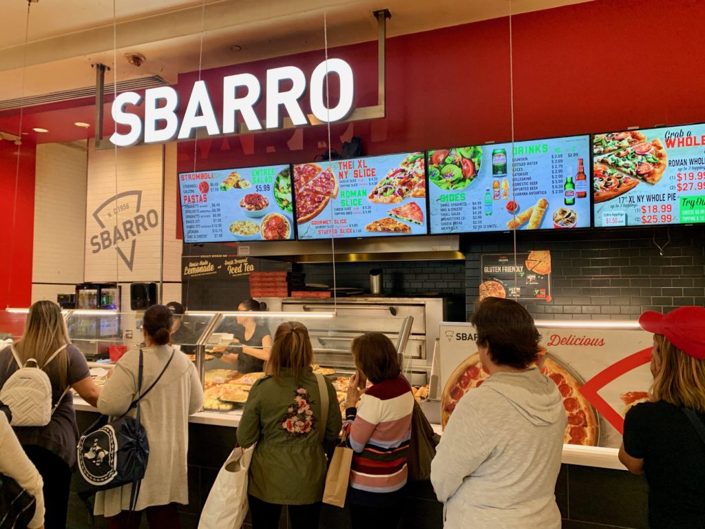SBARROのカウンターとメニュー表