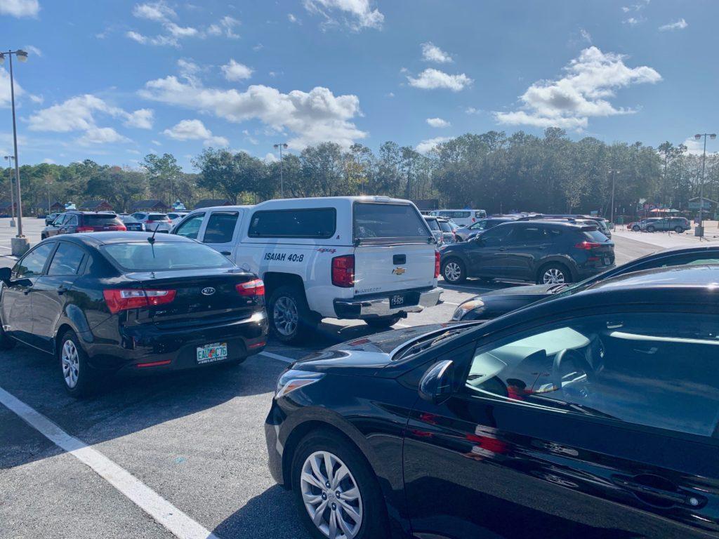 ディズニーブリザードビーチの駐車場