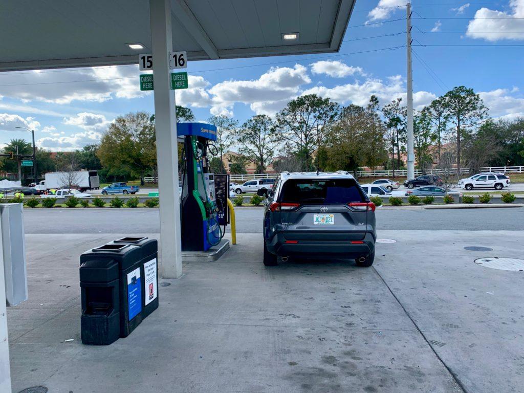 ウォルマートのガソリンスタンド