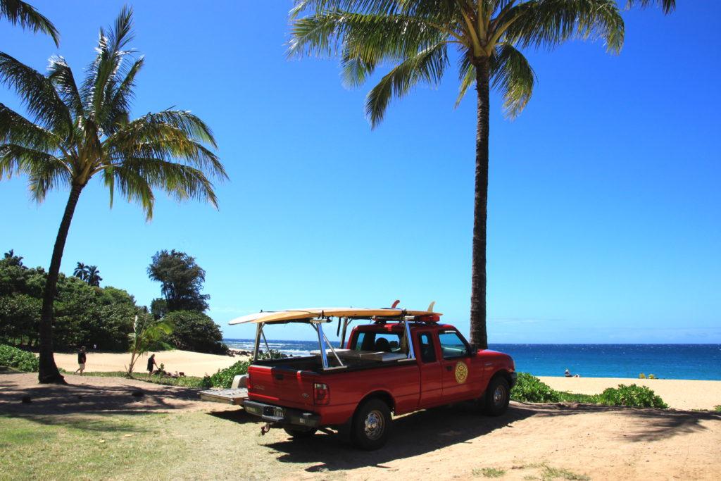 ハエナビーチの駐車場