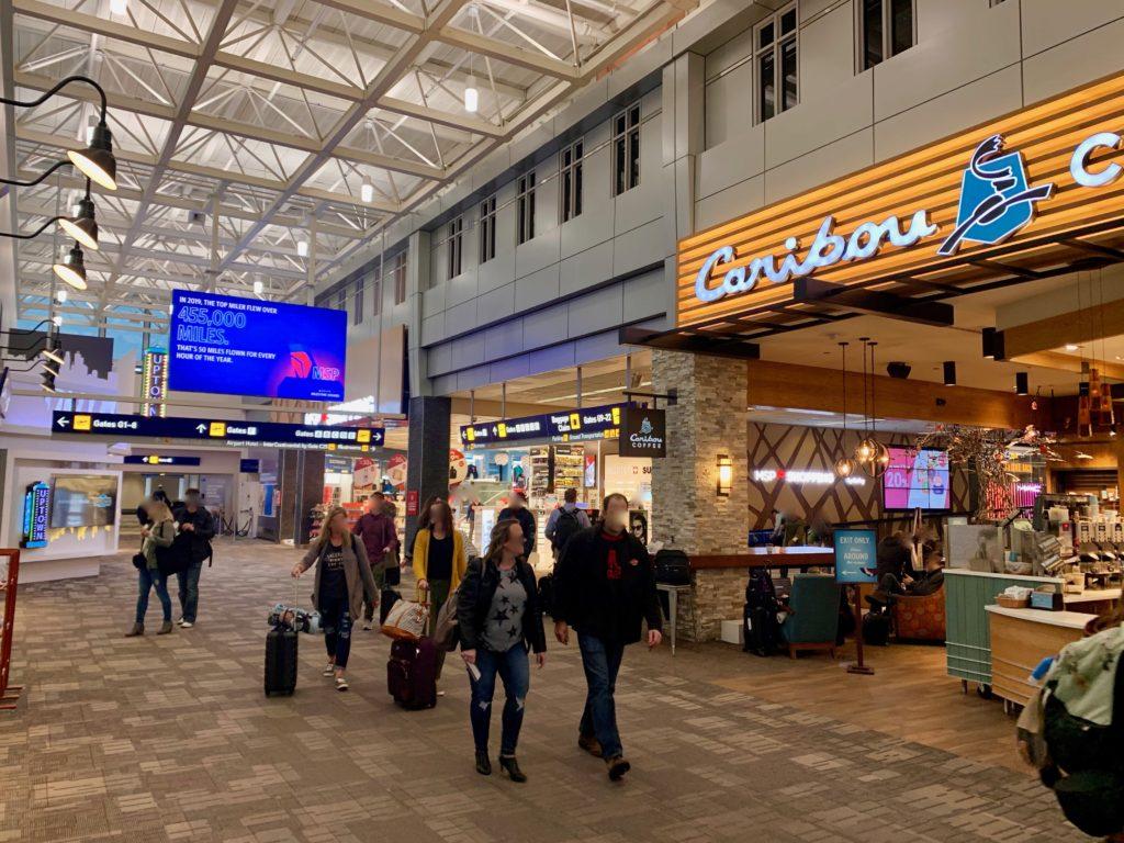 ミネアポリス空港のトランスファーエリア