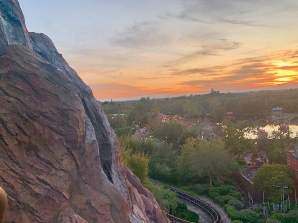 アニマルキングダムの夕日