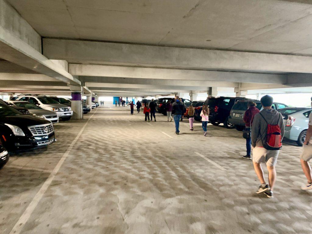 ユニバーサルオーランドリゾートの駐車場