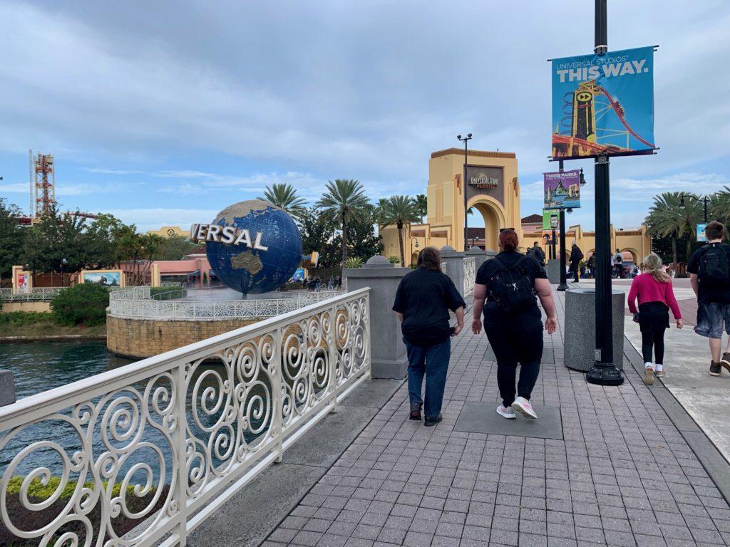 ユニバーサルスタジオフロリダの入り口