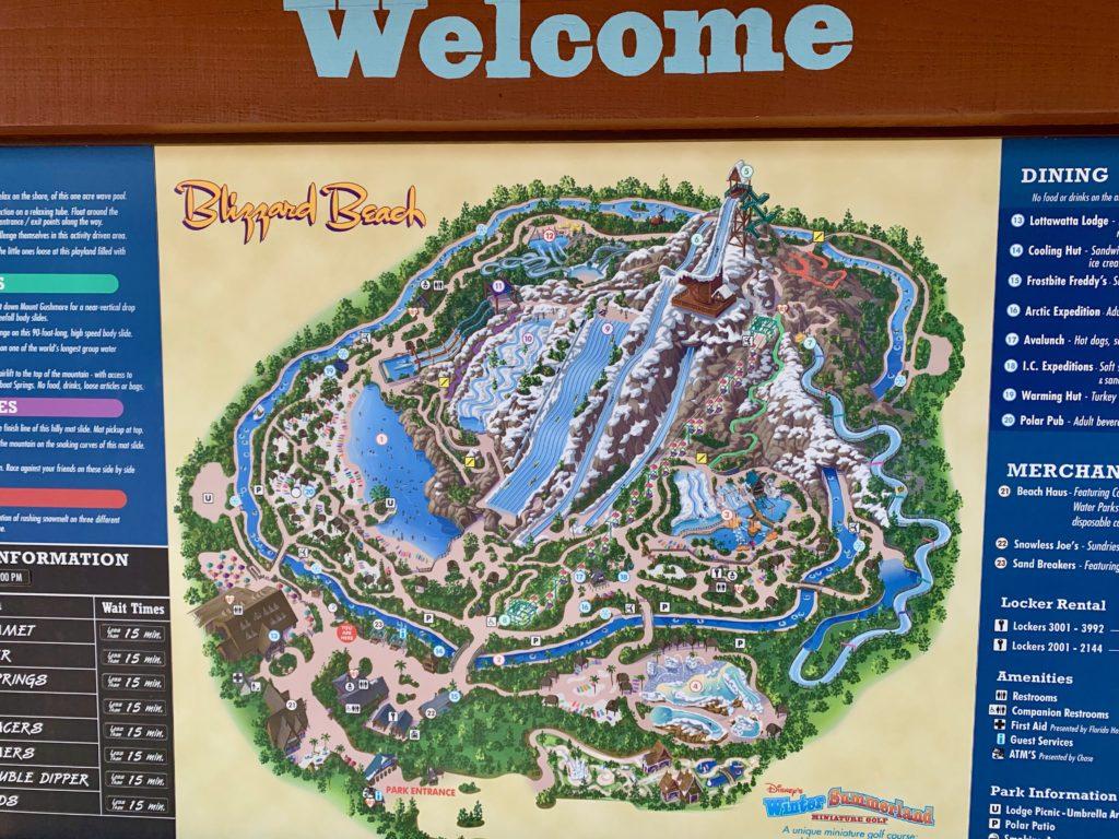 ブリザードビーチの地図