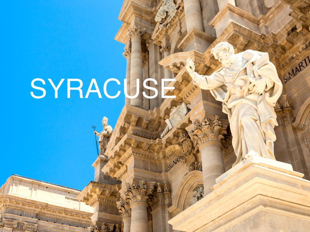 シラクーサ大聖堂の銅像