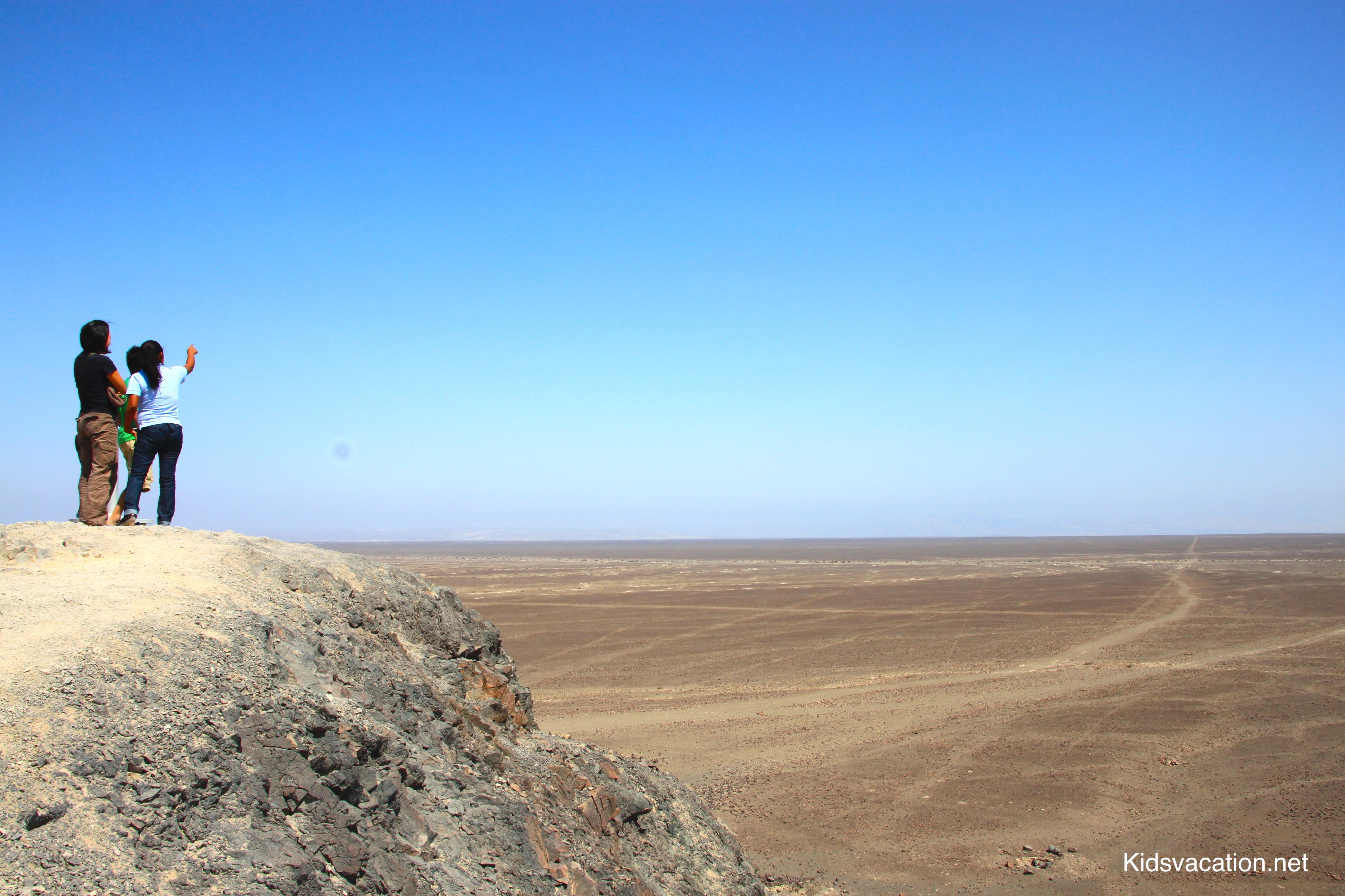 ナスカ平原を見渡すナチュラルミラドール
