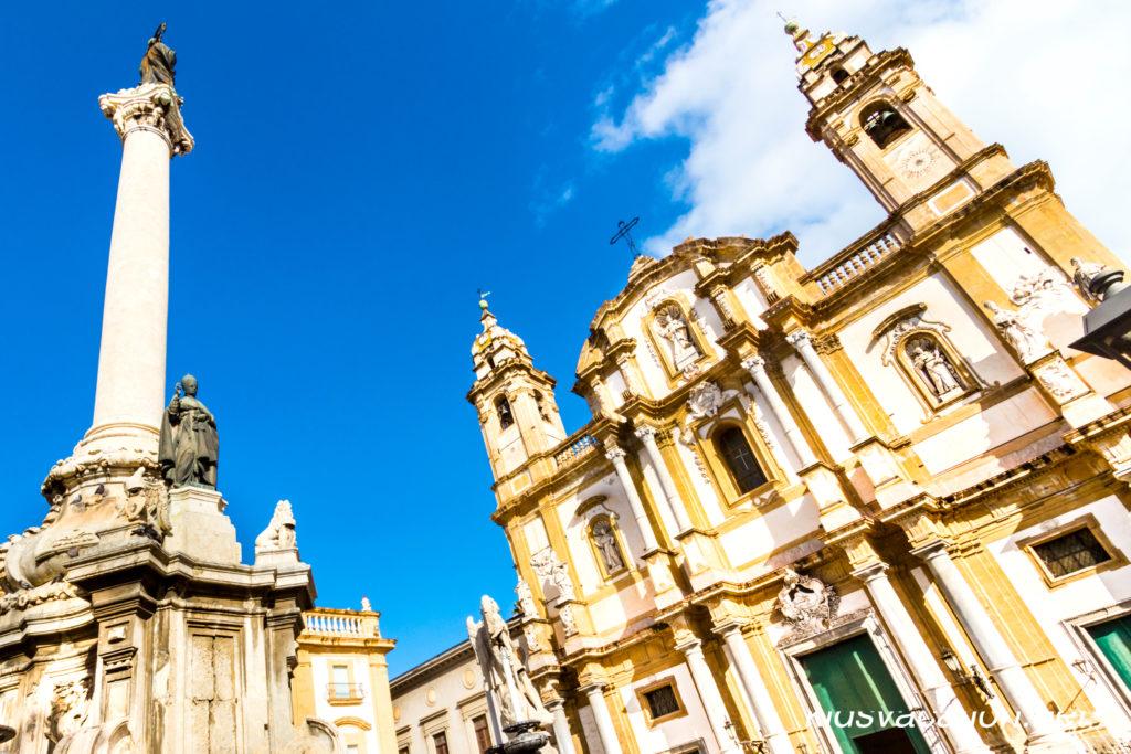 サンドメニコ教会と彫刻